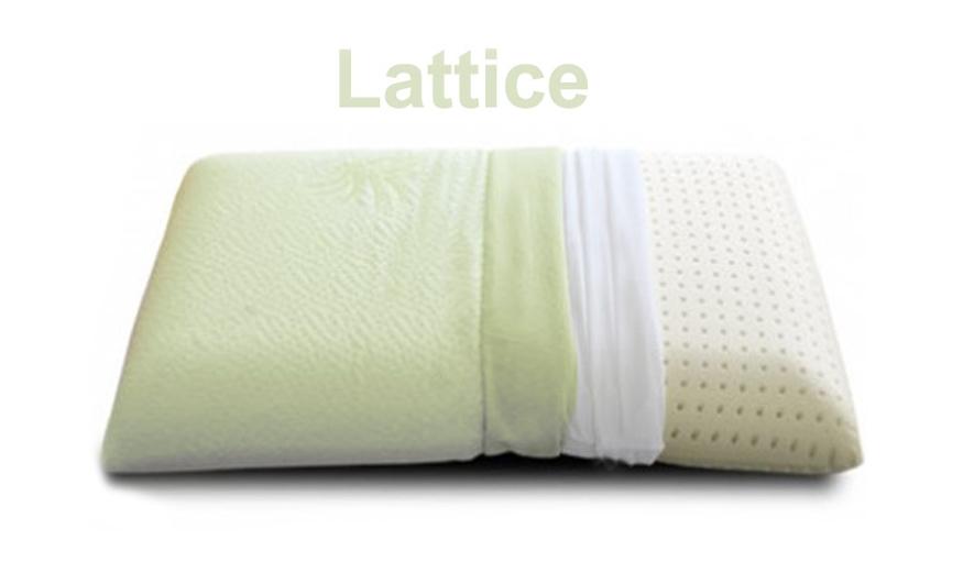 Materassi Memory Vs Lattice.Cuscino Lattice Naturale 100 Saponetta Aloe